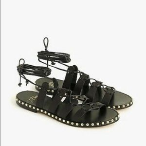 🆕Jcrew Black Studded Gladiators